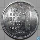 South Korea 1 won 1982