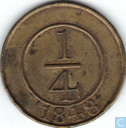 Dominican Republic ¼ real 1848