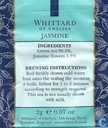 Tea bags and Tea labels - Whittard of Chelsea - Jasmine