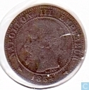 France 2 centimes 1855 (BB - chien)