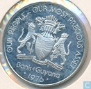 Guyana 5 dollars 1976 (BE - Argent)