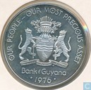 "Guyana 10 dollars 1976 (PROOF) ""10th Anniversary of Independence"""