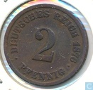 German Empire 2 pfennig 1876 (J)