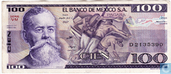 Mexique 100 Pesos 1982