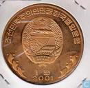 "Nordkorea 1 Won 2001 (PP - Messing) ""Flughuhn"""