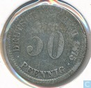 German Empire 50 pfennig 1875 (D)