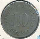 German Empire 10 pfennig 1876 (E)