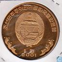 Noord-Korea 1 won 2001 (PROOF)