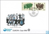 Timbres-poste - Féroé - Europe – Folklore
