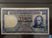 10 Guilder coin note 1945