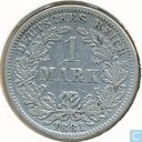 German Empire 1 mark 1881 (F)