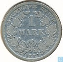 German Empire 1 mark 1886 (F)
