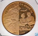 "Nordkorea 1 Won 2001 (PROOF - Messing) ""Zug"""