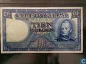 10 Guilder coin note 1949