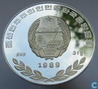"North Korea 500 won 1989 (PROOF) ""Fairy of Mount Kumgang"""