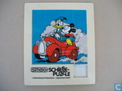 Simex Schiebe-Puzzle - Donald Duck en Mickey Mouse