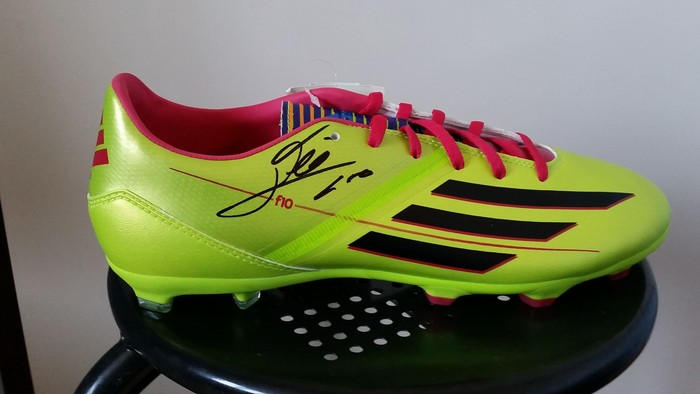 Lionel Messi hand-signed football shoe Adidas F10 with COA - Catawiki d39cab8ba60