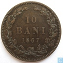 Romania 10 bani 1867 (HEATON)