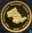 "Australië 4 dollars 2005 ""The Australian gold nugget"""