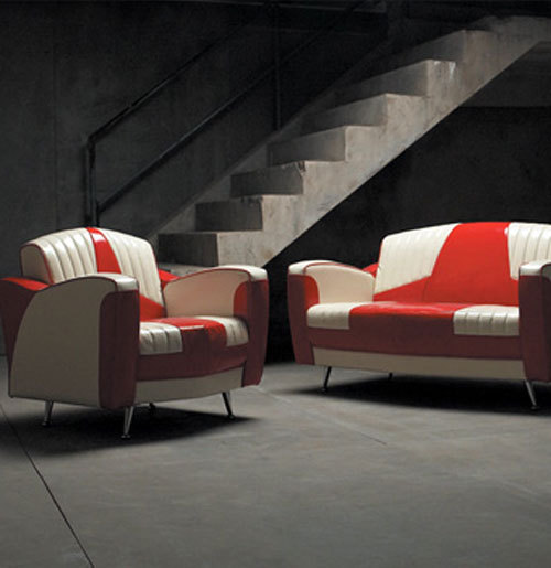 Cadillac Seat Style Sofa Sessel Rot Weiss Catawiki