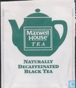 Naturally decaffeinated black tea
