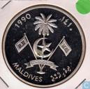 "Maldiven 250 rufiyaa 1990 (PROOF - year 1410) ""1992 Summer Olympics - Barcelona - Swimming"""