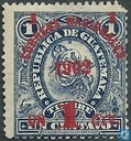 Adhesive stamps with overprint Correos Nacionales