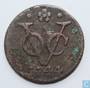 VOC 1 duit 1744 Holland