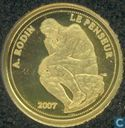 "Benin 1500 francs 2007 (PROOF) ""Le Penseur"""