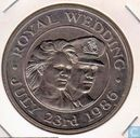 "St. Helena and Ascension 50 pence1986 ""Wedding of Prince Andrew and Sarah Ferguson"""