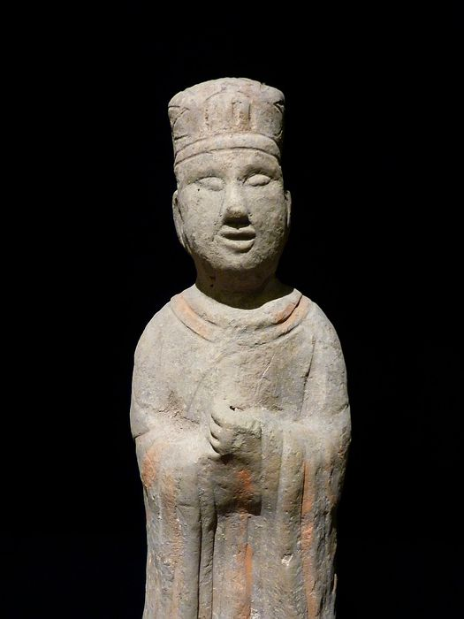 Large Terracotta High Dignitary - China - 420-550 (Wei Dynasty)