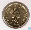 St. Helena and Ascension 1 pound 1991