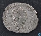 Roman Empire, AR Antoninianus, 256-258 AD, Valerian II as divus under Gallienus, Lugdunum, 257-258 AD