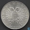 "Austria 2 schilling 1937 ""200th anniversary completion St. Charles church"""