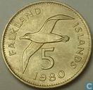 Falkland Islands 5 pence 1980