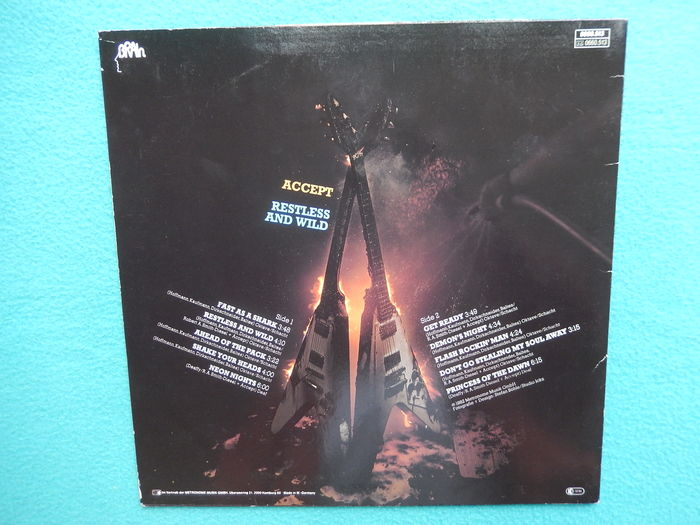 Accept – Restless And Wild, Lp, Germany, Brain Records