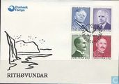 Postage Stamps - Faroe Islands - Writers