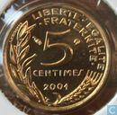France 5 centimes 2001