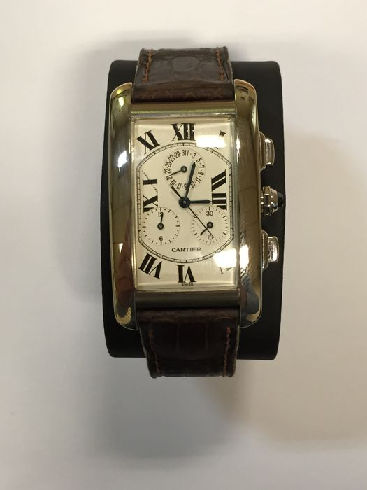 Cartier Tank Americaine - gentleman's wristwatch - 2008