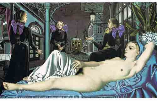 22 Art Cards - Paul Delvaux - Issued 80/90 years