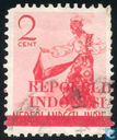 Overprint 'Repoeblik Indonesia' and one wide bar over Ned. Indie