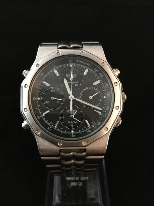 SEIKO 7T34 Sports 150 Alarm Chronograph Watch in beautiful state