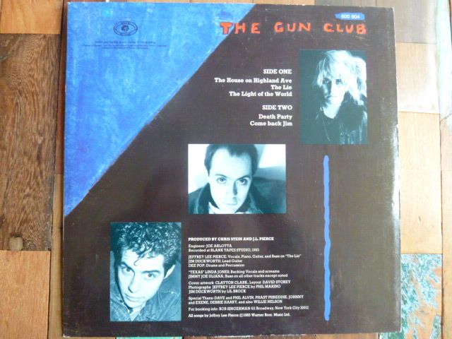 "12"" EP 5 track Gun Club - Death Party EP - German - Animal records - 1983 - 600804"