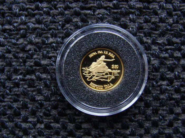 "Tokelau - 10 Dollar 1999 ""Hina Ma Te Kea / Sea maiden and turtle"" gold"