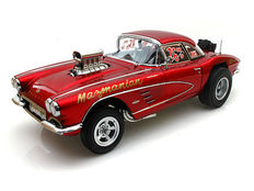 Precision Miniatures - Scale 1/18 - Chevrolet Corvette 1961 Mazmanian - Colour: Red Metallic