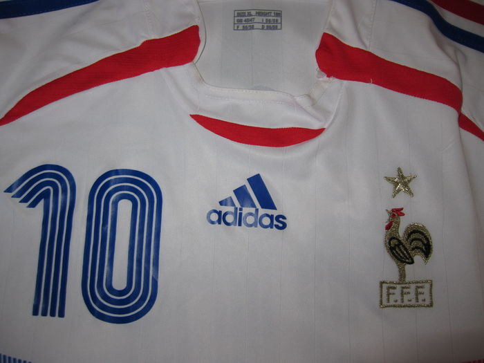 112c4b887 Zinedine Zidane jersey World Championship 2006 original signature + World  Championship 2006 grass cast in resin + COA + Real Madrid letter