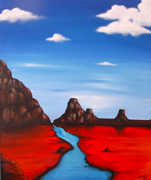 Stephanie Rebato - Red montains and blue river