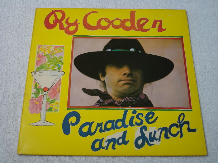Ry Cooder Paradise And Lunch Lp Uk 1st Pressing