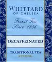 Tea bags and Tea labels - Whittard of Chelsea - Decaffeienated