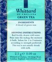 Tea bags and Tea labels - Whittard of Chelsea - Green Tea